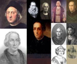 Fotos von Christoph Kolumbus war der Admiral das Kommando über die Expedition, die nach Amerika im Jahre 1492 kam puzzle