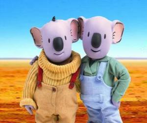 Frank und Buster, die Koala Brüder puzzle