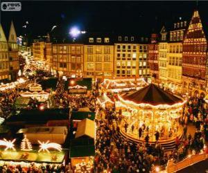 Frankfurt Weihnachtsmarkt puzzle