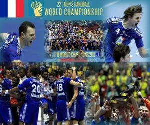 Frankreich Goldmedaille 2011 World Handball puzzle