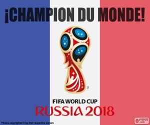 Frankreich, Weltmeister 2018 puzzle