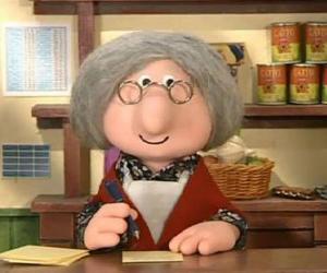 Frau Goggins, das Dorf Postbeamtin in Greendale puzzle