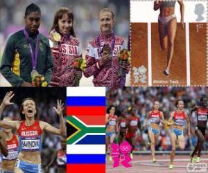 Frauen 800m Leichtathletik London 2012 puzzle