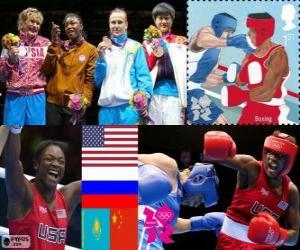 Frauen Boxen Mittelgewicht London 2012 puzzle