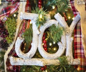 """Freude zu Weihnachten """"JOY"""" puzzle"""