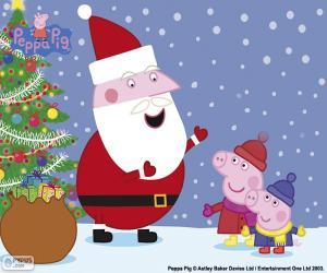 Frohe Weihnachten Peppa puzzle