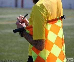 Fußball-Linienrichter puzzle