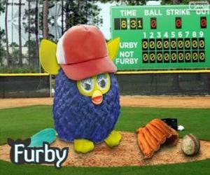 Furby spielt baseball puzzle