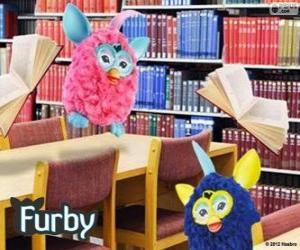 Furbys in der Bibliothek puzzle