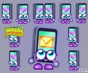 Gabby ist einer der Moshlings, geformt wie ein iPhone oder ein iPad. Tecno-Serie puzzle
