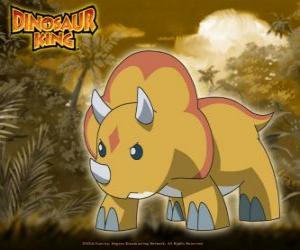 Gabu, Chomp, das stärkste Team-D Dinosaurier, die Triceratops von Dinosaur King puzzle