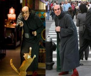 Gargamel und seine Katze Azrael Schlümpfe für uns in Manhattan suchen puzzle