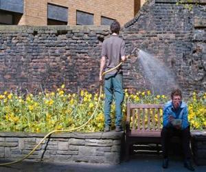 Gärtner eher pflanzen, wässern puzzle
