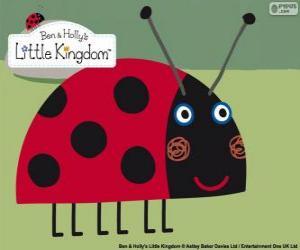 Gaston der Marienkäfer, der beste Freund-Insekt aus Ben und Holly puzzle
