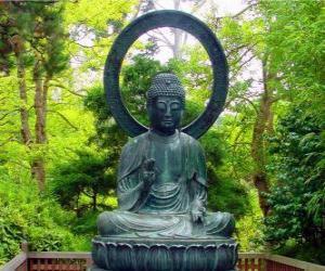 Gautama Buddha sitzung puzzle