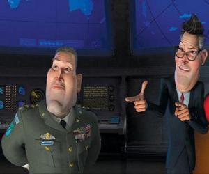 General Monger mit Präsident Hathaway puzzle