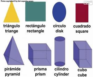 Geometrische Grundfiguren puzzle