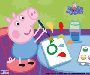 George beginnt Schule puzzle