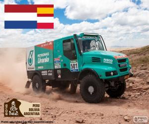 Gerard de Rooy, Dakar 2016 puzzle