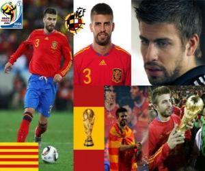 Gerard Pique (The Dandy Spanien) spanische Team Verteidigung puzzle