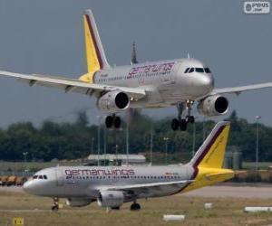 Germanwings ist eine deutsche Billigfluggesellschaft puzzle