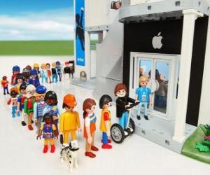 Geschäft Apple Playmobil puzzle