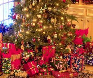 Geschenke unter dem Weihnachtsbaum puzzle
