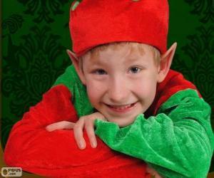 Gesicht von einem Weihnachts-Elf puzzle