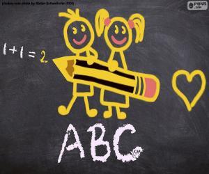 Gestartete Schule puzzle