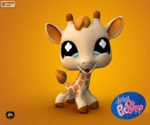 Giraffe aus Littlest PetShop puzzle