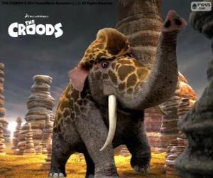 Giraffofant von Die Croods, eine Kreuzung zwischen einer Giraffe und Elefant puzzle