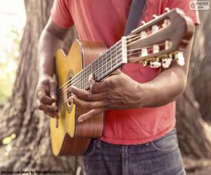 Gitarre spielen puzzle