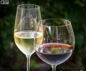 Gläser weißwein rotwein puzzle