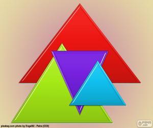 Gleichseitigen Dreieck puzzle