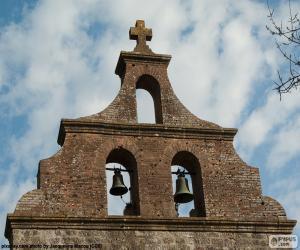 Glockenturm einer Kirche puzzle