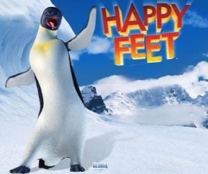 Gloria ist ein weiblicher Kaiserpinguin Mumble ist in der Liebe mit Gloria im Film Happy Feet puzzle