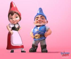 Gnomeo und Julia, die Protagonisten eines Films auf Shakespeares Romeo und Julia auf puzzle