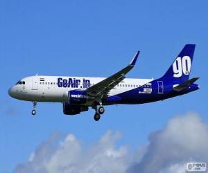 GoAir eine indische Billigfluggesellschaft puzzle