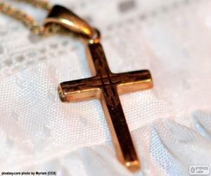 Gold Kreuz Anhänger puzzle