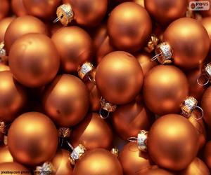 Goldener Ball von Weihnachten puzzle