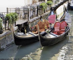 Gondeln von Venedig puzzle