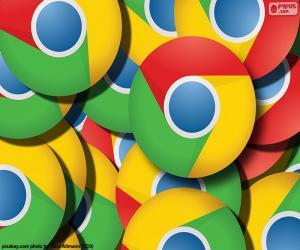 Google Chrome logo puzzle