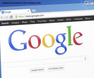 Google-Suchmaschine puzzle