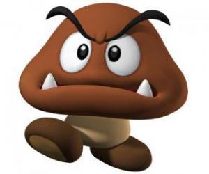 Goomba, Feinde von Mario, eine Art Pilz mit Füßen puzzle