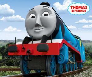 Gordon, der blaue Lok mit der Nummer 4, den Schnellzug puzzle