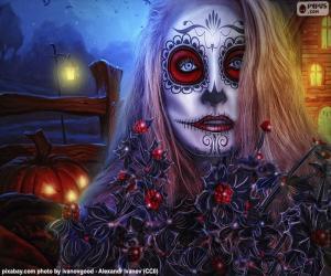 Gothic Halloween Maske puzzle