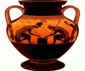 Griechischen amphore dekoriert puzzle