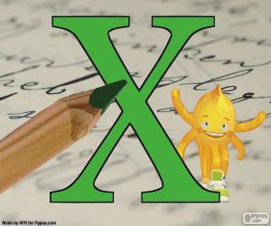 Griechischen Buchstaben Chi puzzle