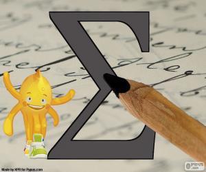 Griechischen Buchstaben Sigma puzzle