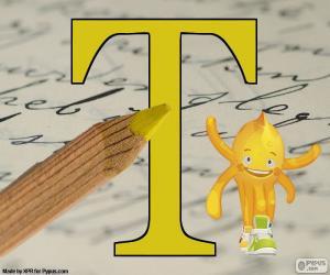 Griechischen Buchstaben Tau puzzle
